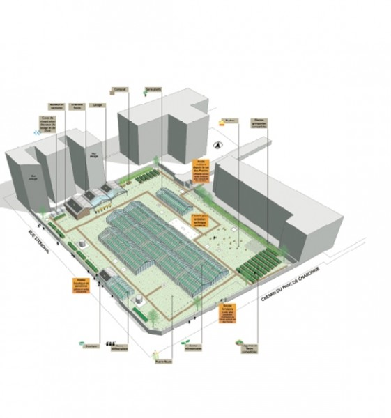Le projet de ferme urbaine de Paysan urbain pour le site du réservoir de Charonne, propriété d'Eaux de Paris.