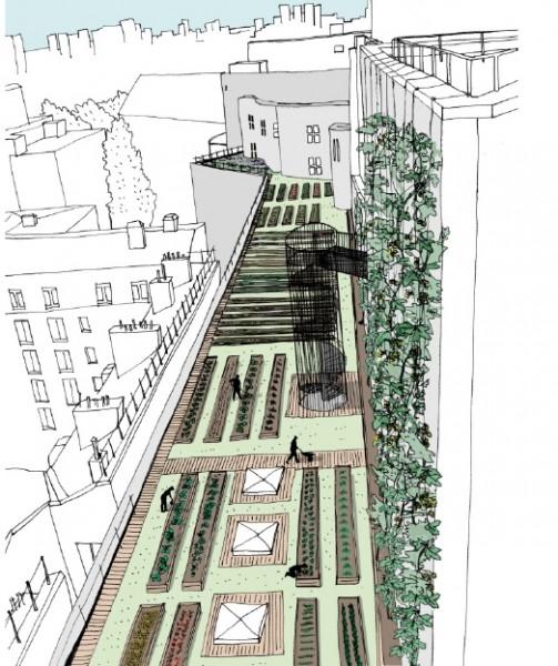 Le projet de Topager pour le toit de l'Opéra à la Bastille, propriété de l'Opéra de Paris.