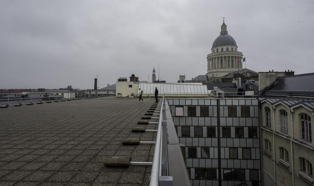 Le toit de l'Université Panthéon-Sorbonne, 5e. © Ville de Paris-Jean-Pierre Viguié