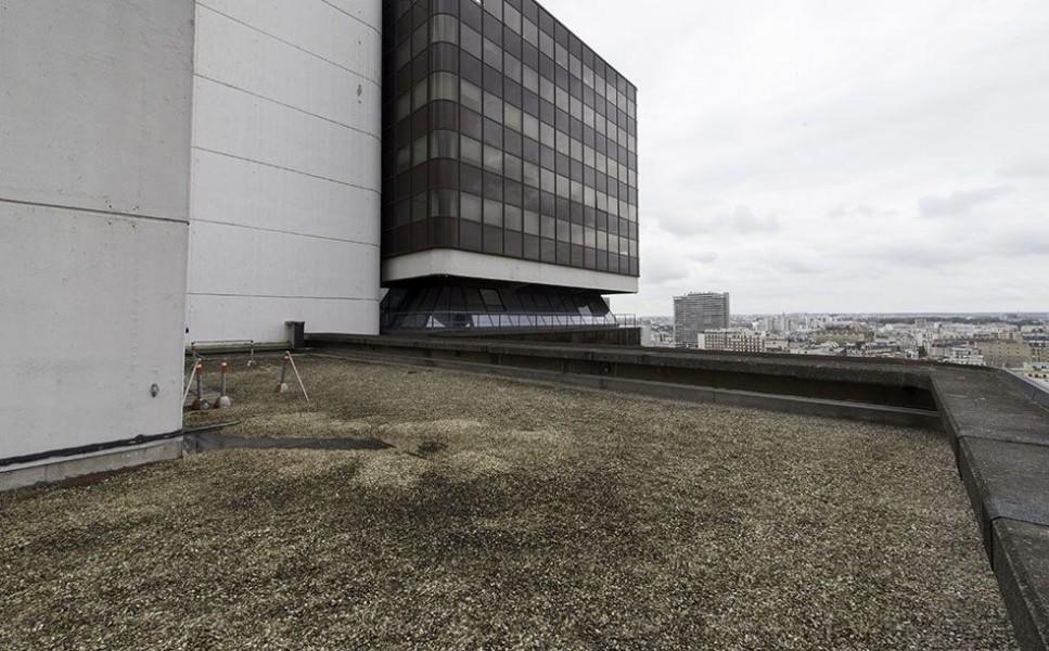 Le toit du Centre Pierre Mendès France (université Paris-Sorbonne) dans le 13e. © Mairie de Paris-Jean-Pierre Viguié