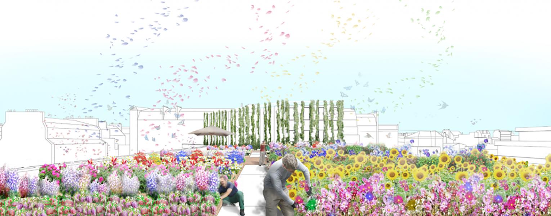 © Le projet de fleurs coupées de Mugo et XTU Architectes/ Co-propriété rue de Paradis, 10e.