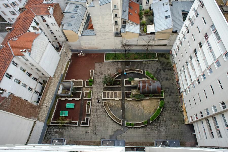 vue générale de cour intérieure. Source : Ville de Paris