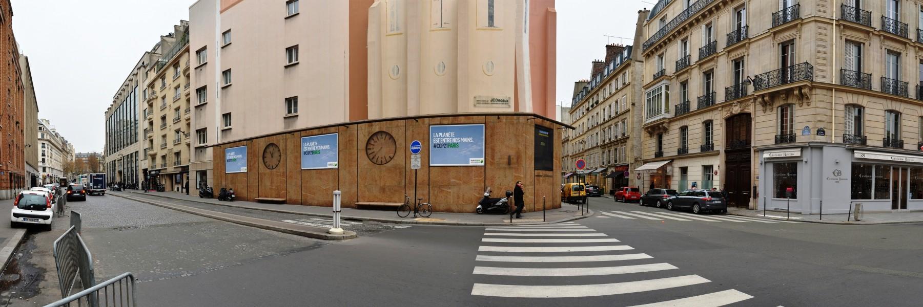 Mur avenue Delcassé. Source : JC DECAUX ©
