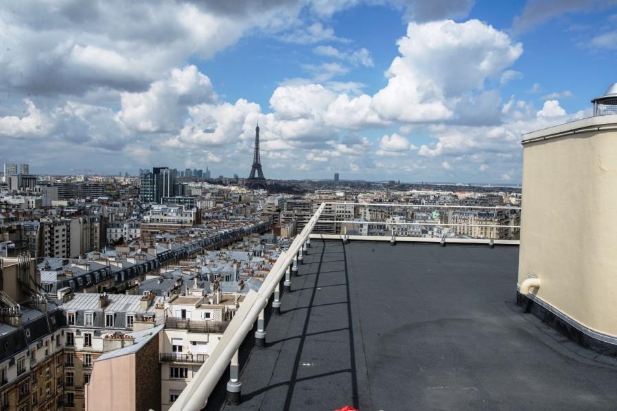 Résidence Docteur Roux. Détail toit. Source : Ville de Paris Christophe Noel ©