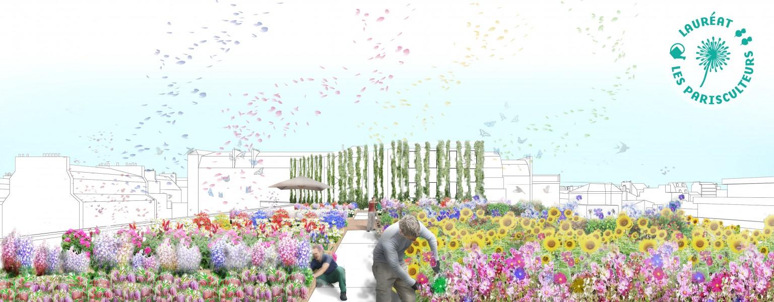 Projet lauréat : Fleurs de Paradis. Source : MUGO et XTU Architects®