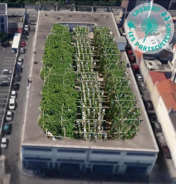 Projet lauréat : Une ferme urbaine de production au CTM de Pantin. Source : Agripolis®