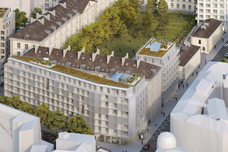 Site Caserne de Reuilly Lot A. Source : LIN Architectes Urbanistes