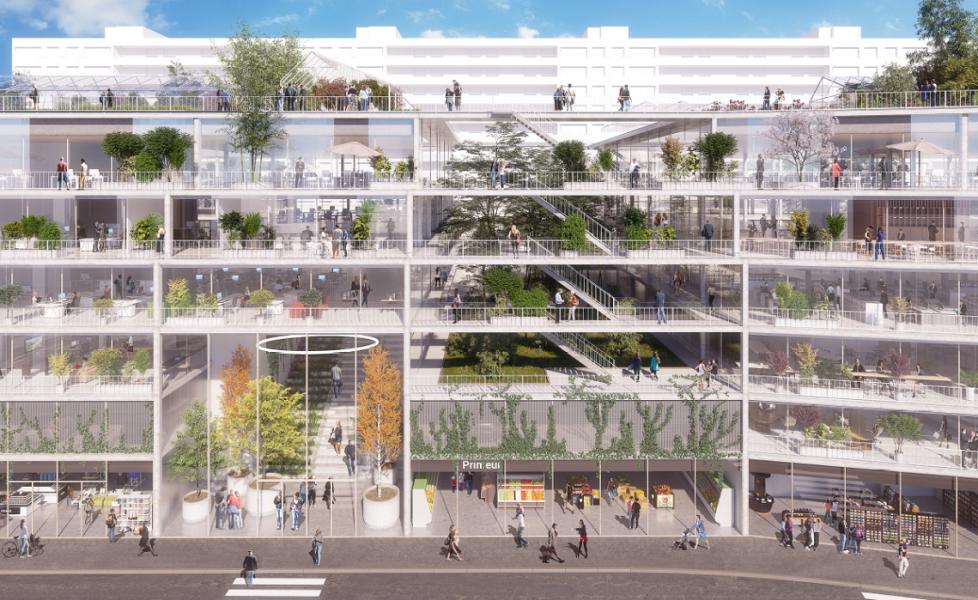 Visuel du projet 108 avenue de France. Source : Icade/Chartier Dalix