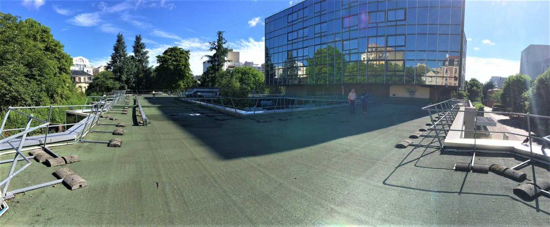 Terrasse de l'EHPAD Alquier Debrousse. Source : Groupement Green Team - Sébastien Courthéoux®
