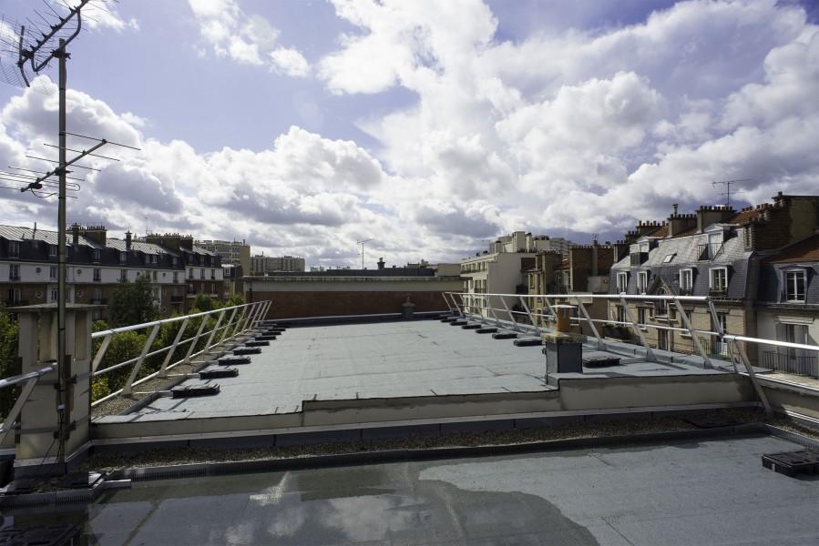 Terrasse C du Collège Modigliani. Source : Mairie de Paris - Jean-Pierre Viguié®