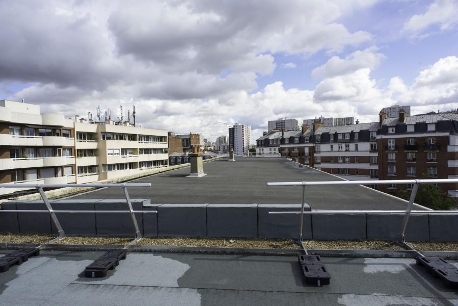 Terrasse D du Collège Modigliani. Source : Mairie de Paris - Jean-Pierre Viguié®