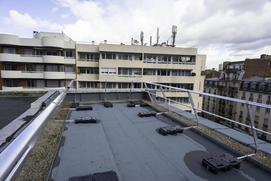 Terrasse D' du Collège Modigliani. Source : Mairie de Paris - Jean-Pierre Viguié®