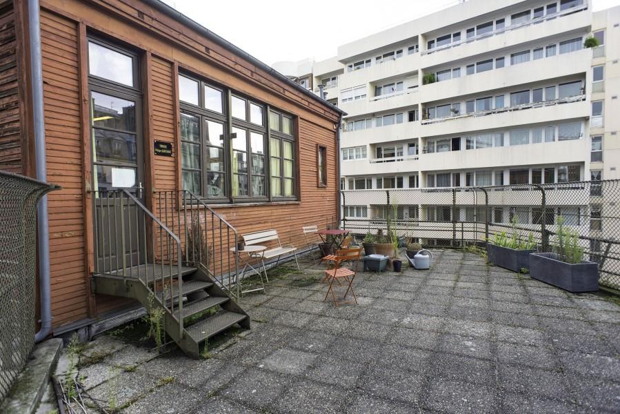 Terrasse A du Collège Modigliani. Source : Mairie de Paris - Jean-Pierre Viguié®