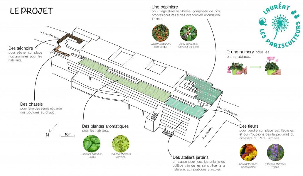 Projet lauréat : Aromates, fleurs et partage. Source : Veni Verdi®