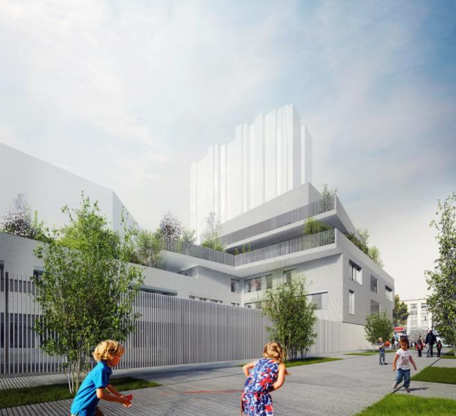 Site Ecole Chapelle International. Source : Source : TOA Architectes associés®