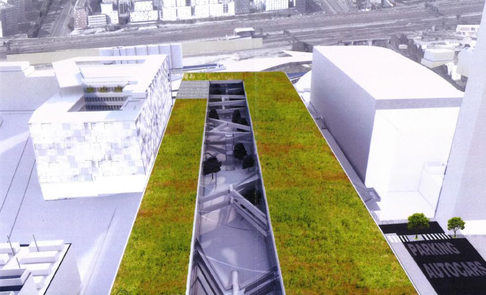 Site Pôle Fret Batignolles. Source : SIAMA Architectes Urbanistes®