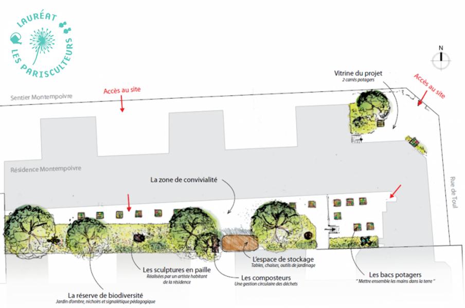 Jardin Monte en Graine Crédits @Urbanescence