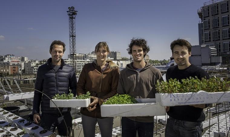 L'équipe lauréate ©Jean-Pierre Viguié - Ville de Paris