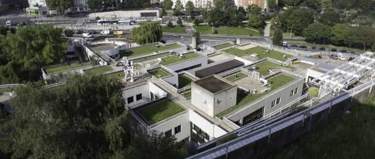 Les terrasses de l'Hôpital universitaire Robert Debré, site de l'APHP. © Ville de Paris-Jean-Pierre Viguié