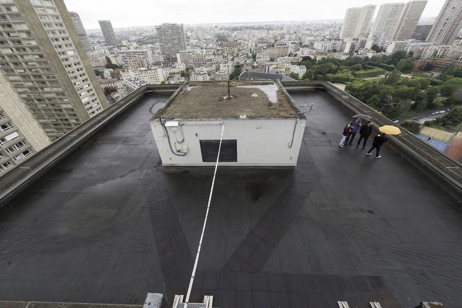 Le toit du Centre Pierre Mendès France (Université Panthéon-Sorbonne), 13e. © Ville de Paris-Jean-Pierre Viguié