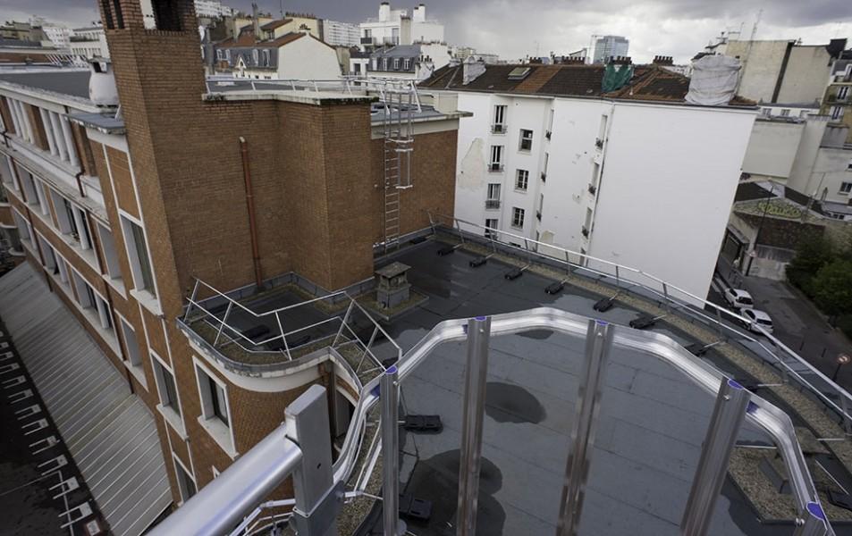 Le toit du collège Modigliani dans le 15e. © Mairie de Paris-Jena-Pierre Viguié