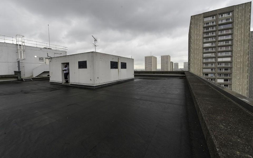 Le toit du Centre Pierre Mendès France (université Paris-Sorbonne) dans le 13e. © Mairie de Paris-Jean-Pierre Vuguié