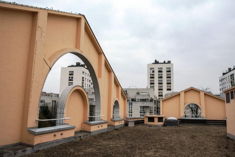 Conservatoire Georges Bizet. Détail terrasse B. Source : Mairie de Paris Christophe Noel ©