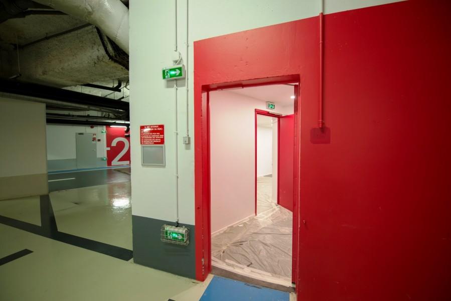 Paris Bourse. Détail accès depuis parking souterrain. Source : Mairie de Paris Jean-Pierre Viguié ©