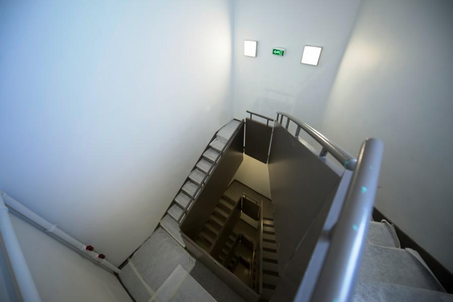 Paris Bourse. Détail accès escalier. Source : Mairie de Paris Jean-Pierre Viguié ©