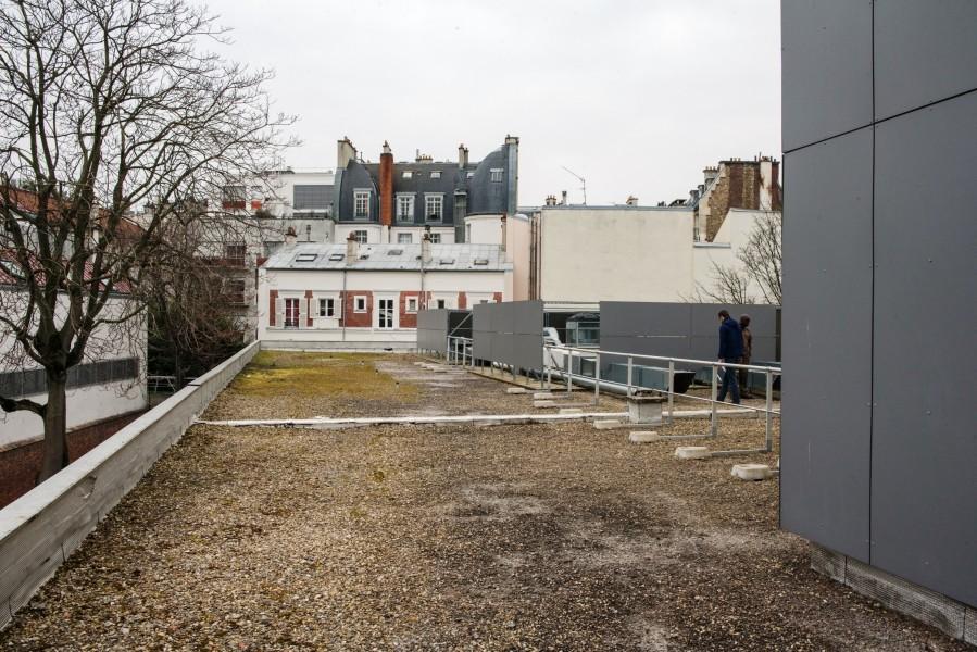 Collège Eugène Delacroix. Détail terrasse B. Source : Mairie de Paris Christophe Noel ©