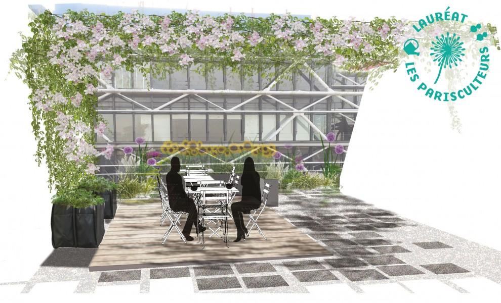 Projet lauréat : Quand le jardin s'invite au Musée. Source : Ma Ville Verte®