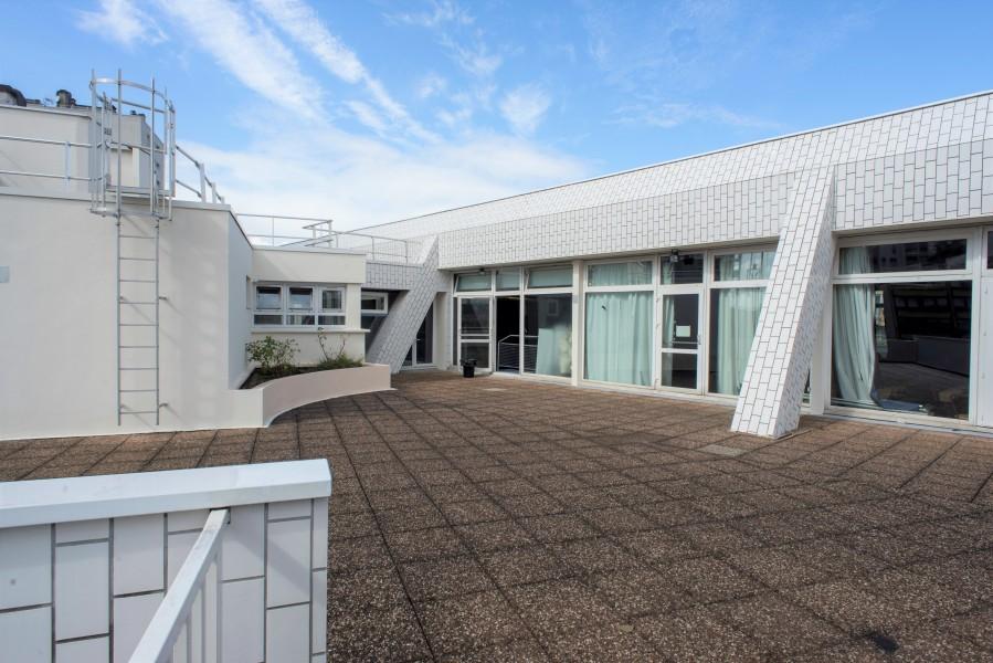 Terrasse où sera créé l'escalier. Source : Mairie de Paris - Jean-Pierre Viguié®