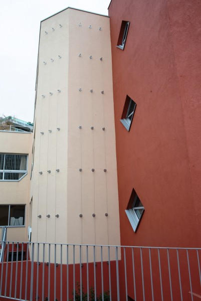 Site groupe scolaire Château des Rentiers, Mur 1. Source : Mairie de Paris Antoine Polez®