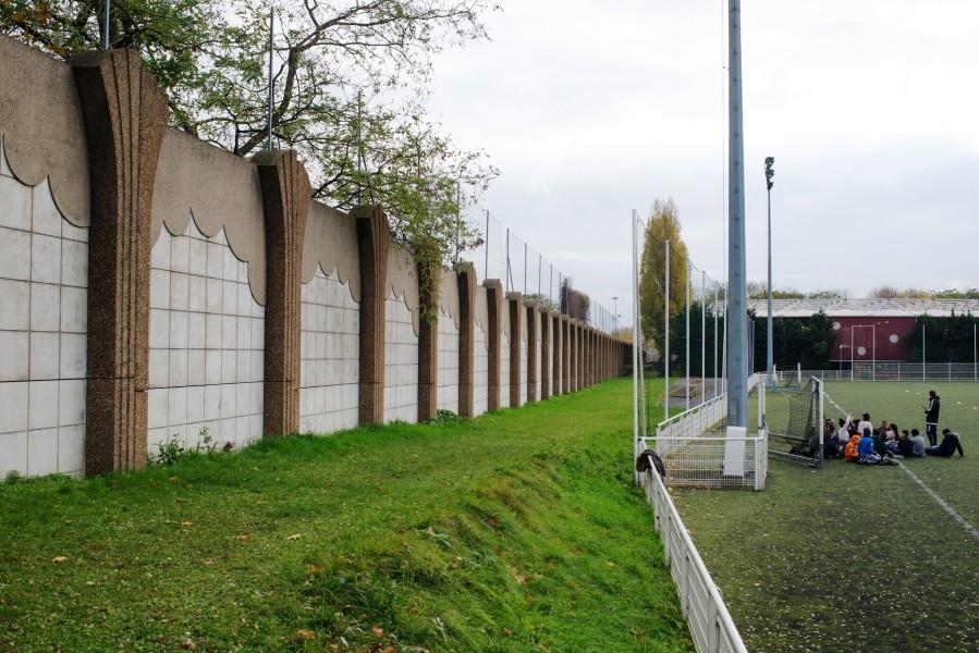 Mur 1 Centre sportif Dejerine. Source : Mairie de Paris Jean-Pierre Viguié®