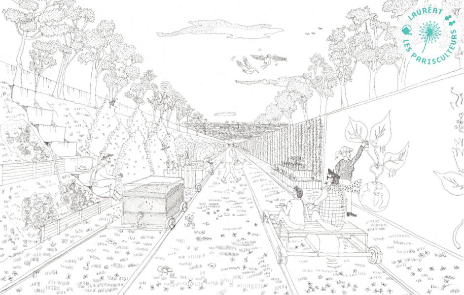 Le jardin des traverses, Crédits @Nicolas Alfaro